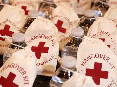 wedding favor ideas hangover kits