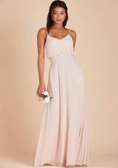 Birdy Grey Gwennie Bridesmaid Dress in Pale Blush V-Neck Bridesmaid Dress