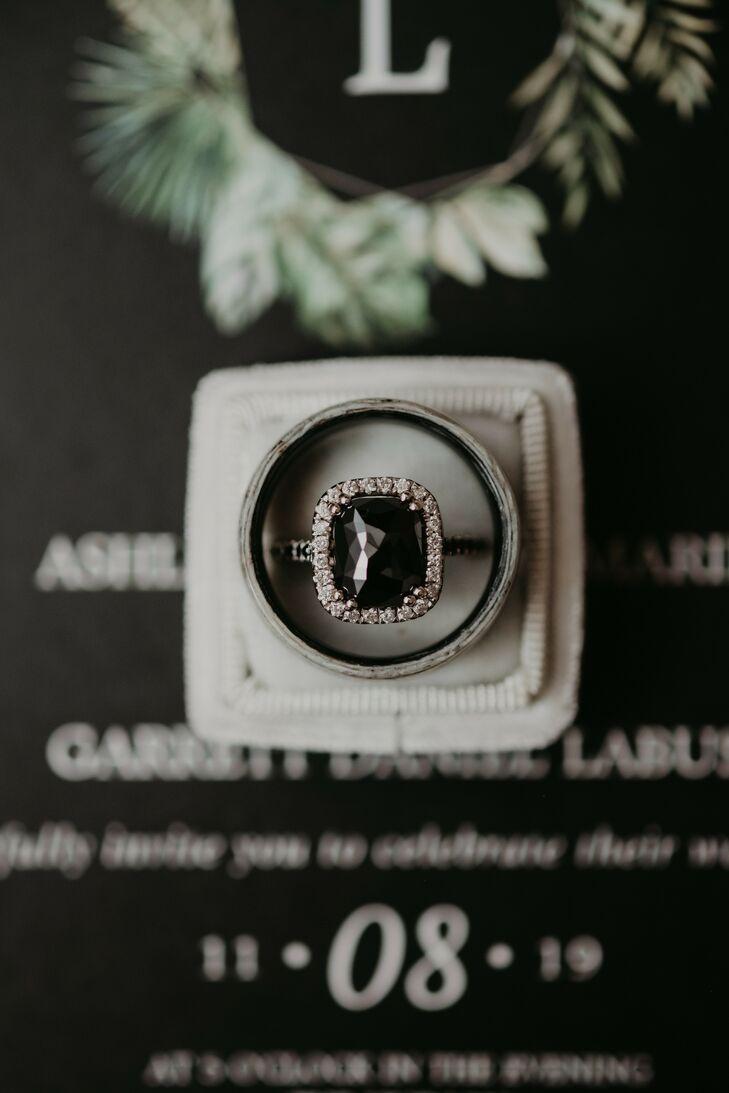 Black Engagement Ring for Wedding at The Hudson in Wichita, Kansas
