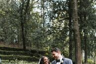 For his wedding to Carmen Bowen (30 and a radiation therapist), Cory Worley (27 and a business owner) and his father cut down a pine tree from their f