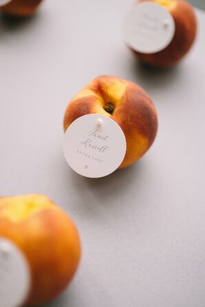 Fresh Peach Escort Cards