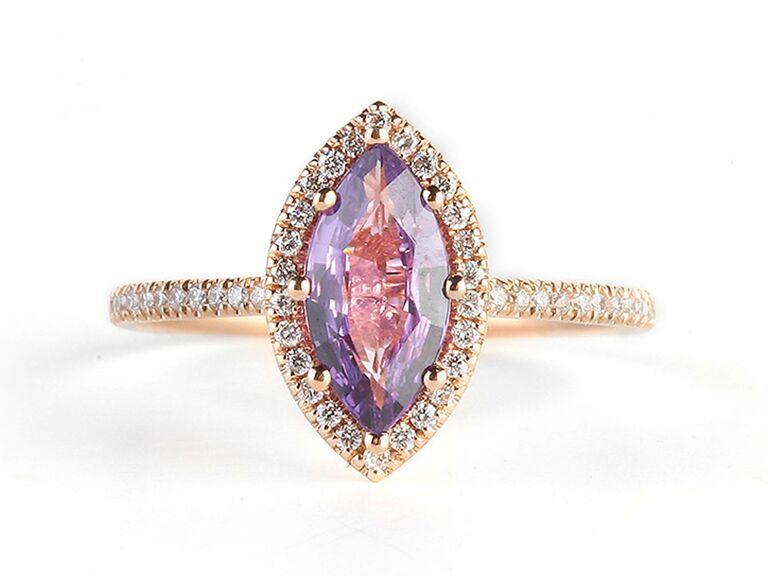 Suzanne Kalan purple sapphire engagement ring