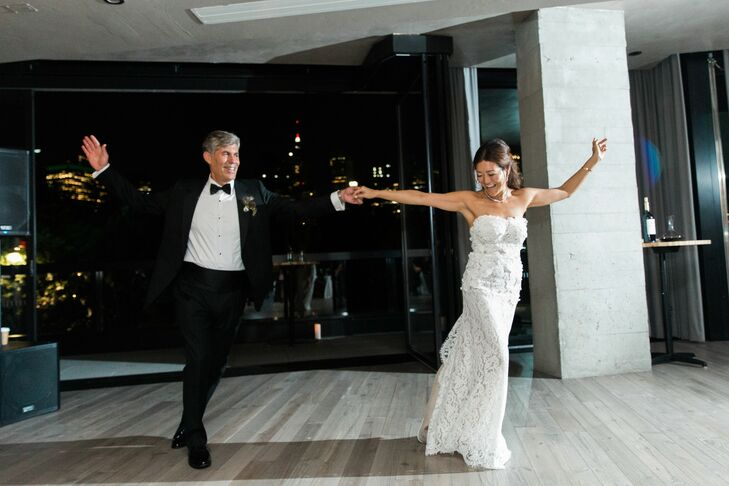 Modern Couple Performing First Dance