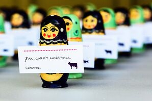Matryoshka Doll Escort Cards