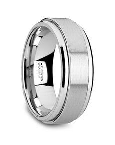 Mens Tungsten Wedding Bands W4470-TCSR Tungsten Wedding Ring