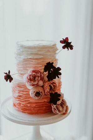Ombre Wedding Cake with Floral Accents