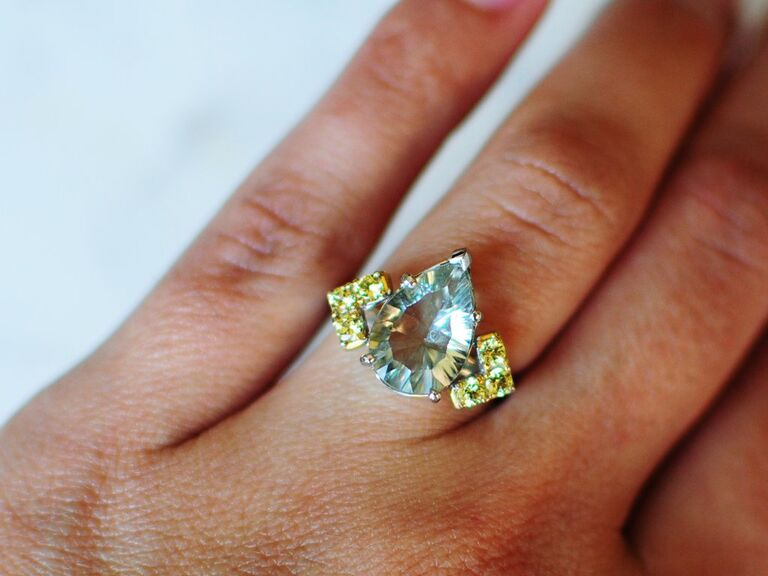 Colorful engagement ring