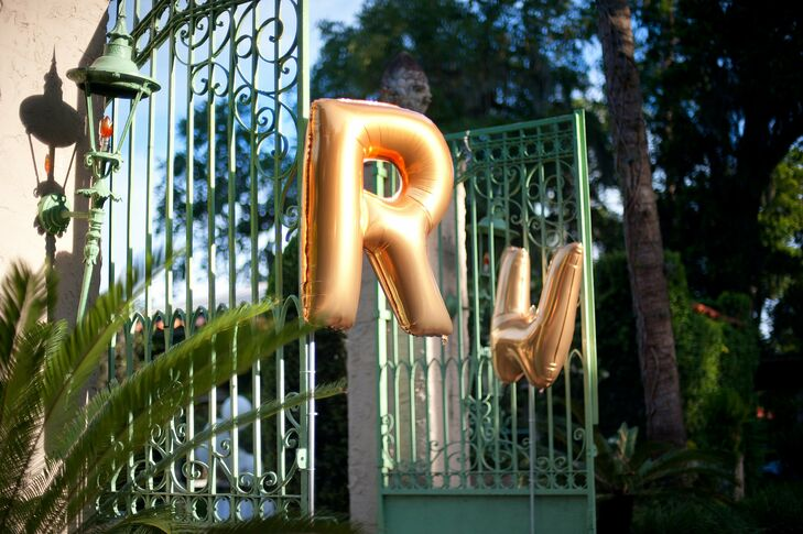Gold Mylar Initial Balloons