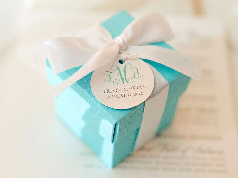 Personalized label gift box