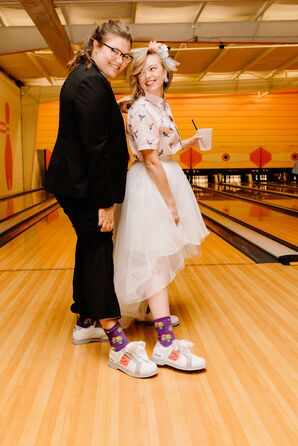 Casual Brides with Bowling Shoes