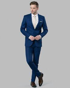 Menguin Cobalt Blue Suit Blue Tuxedo