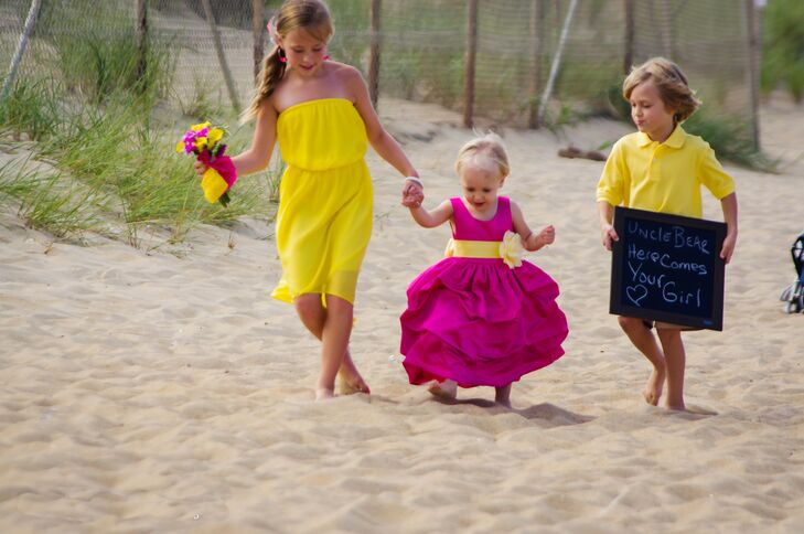 Colorful Flower Girl and Ring Bearer