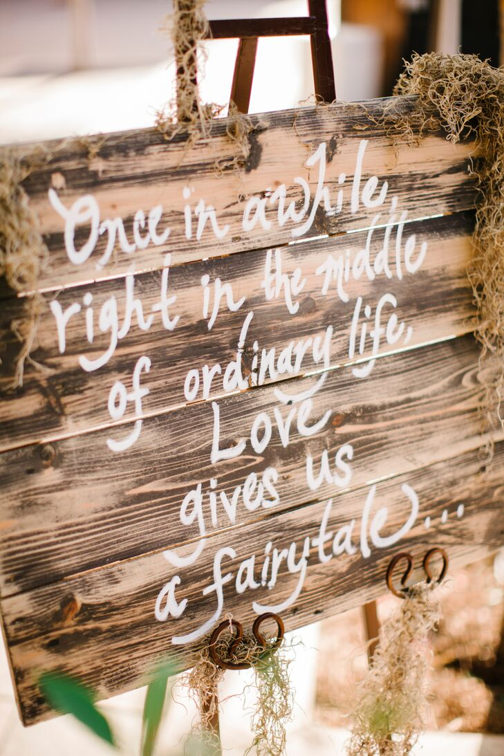 Wooden Sign With Love Quote