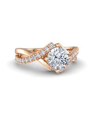 Gemvara - Customized Engagement Rings Unique Round Cut Engagement Ring