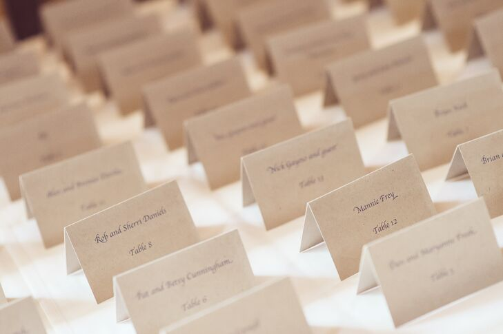 Classic Ivory Escort Cards