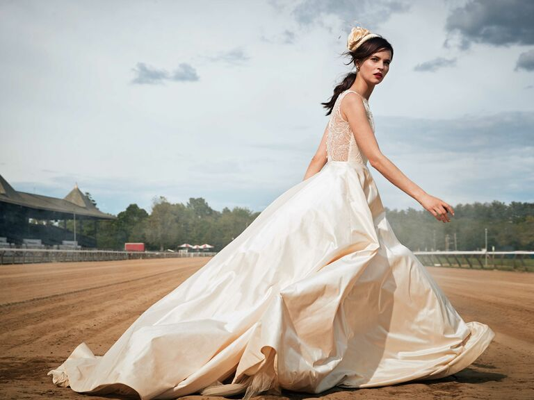 Classic Wedding Dresses With Elegant Black and White Details
