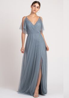 Jenny Yoo Collection (Maids) Aeryn V-Neck Bridesmaid Dress