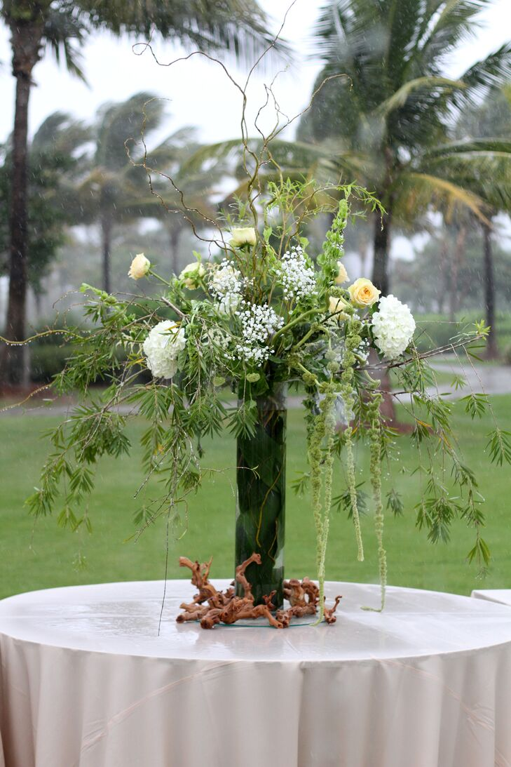 Whimsical Reception Accent with Greenery