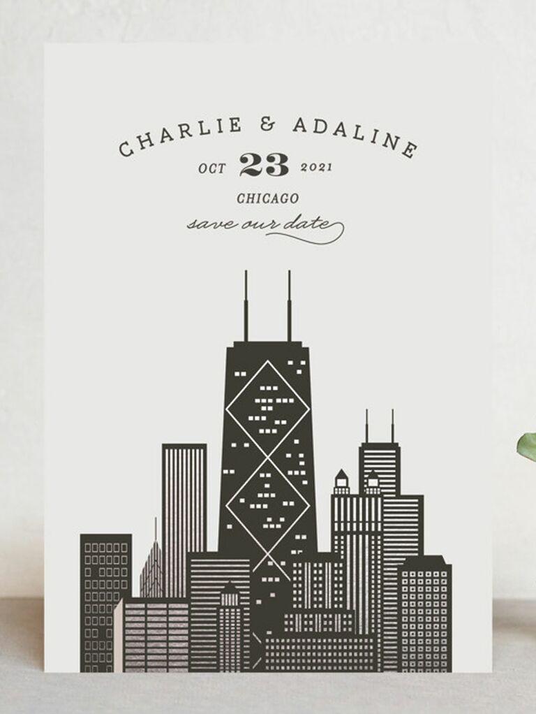 chicago destination wedding save the date