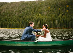 Intimate and modest defines Ayantu Omer (26 and a relocation coordinator) and Jake Wirtz's (27 and a project manager) elopement among the autumn flowe