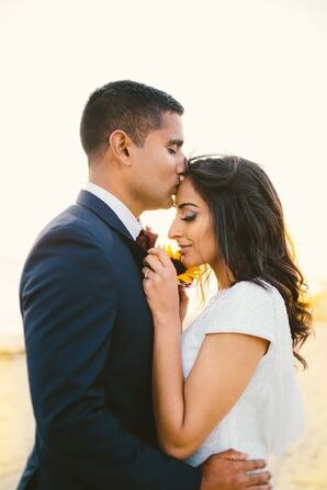 Intimate Beach Wedding in Long Beach, California