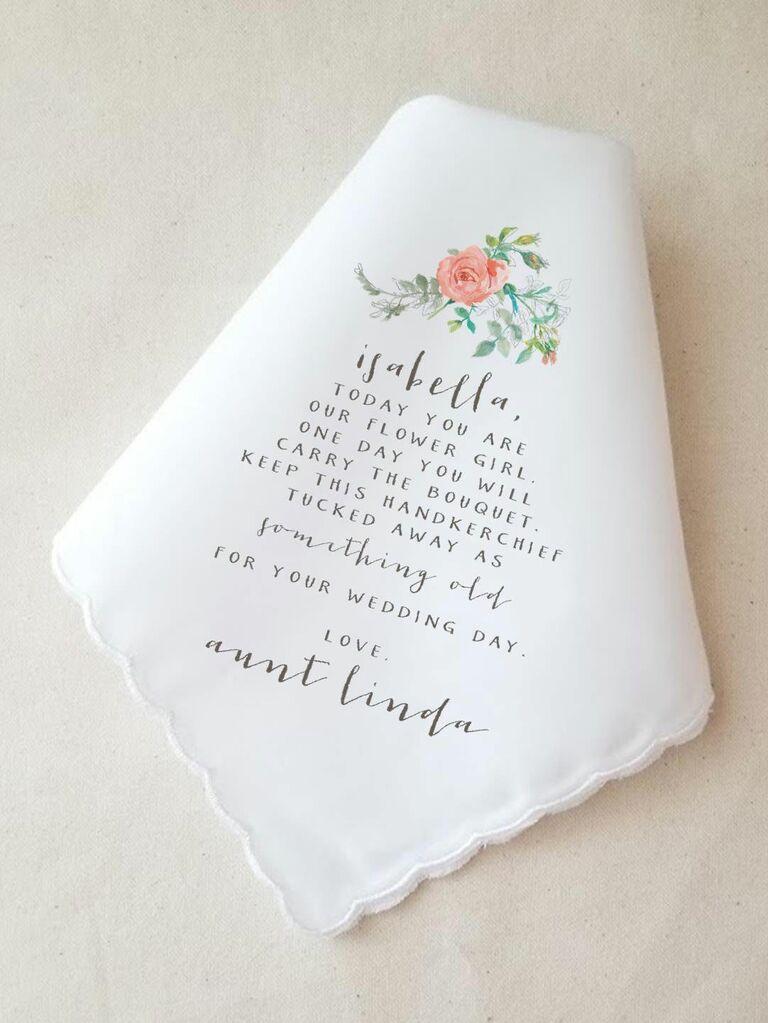 Flower girl custom handkerchief