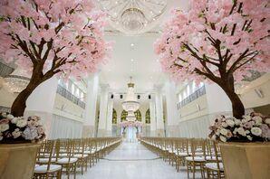 Glamorous Wedding Ceremony at the Southern Exchange Ballrooms in Atlanta, Georgia