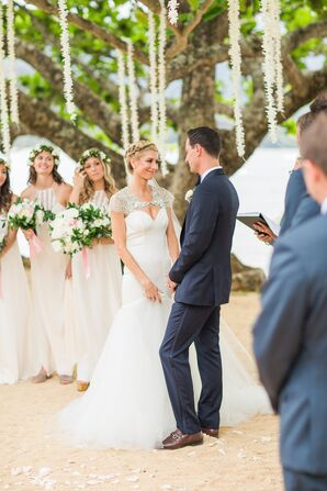 Beach Wedding With Garland