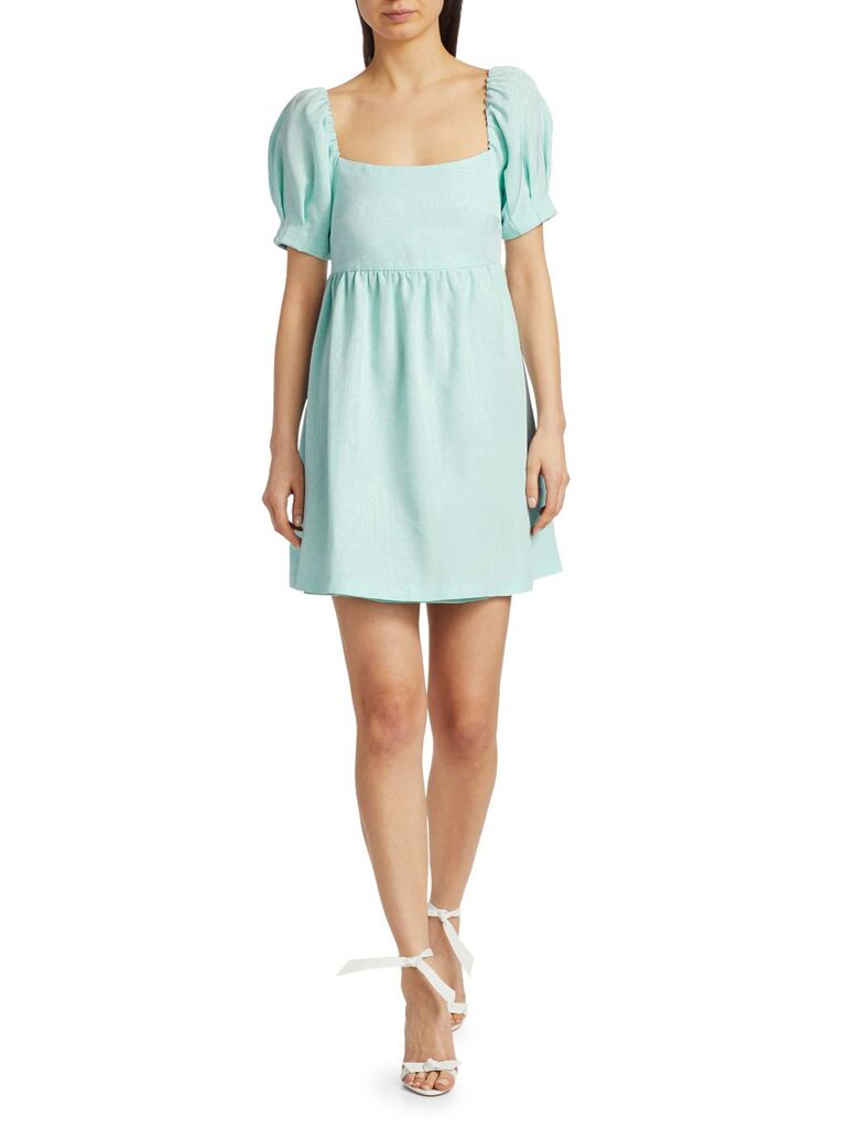 Alice + Olivia Bauery puff sleeve dress