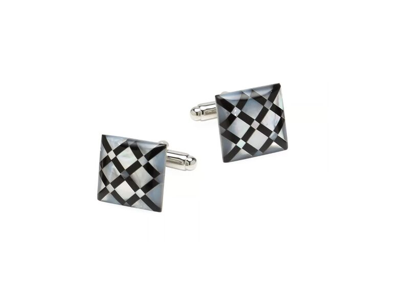 Diamond pattern cuff links 30th anniversary gift