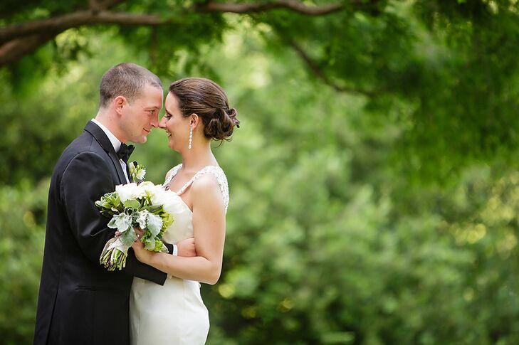 Bride and Groom in Neutral Tones