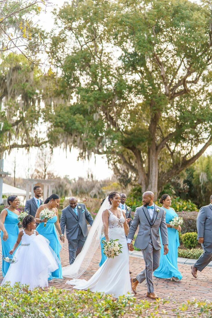Wedding Party at Cypress Grove Estate House in Orlando, Florida