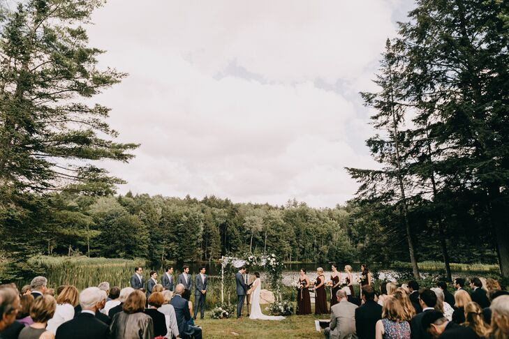 Lakeside Outdoor Ceremony  at a Private Residence in South Londonderry, Vermont