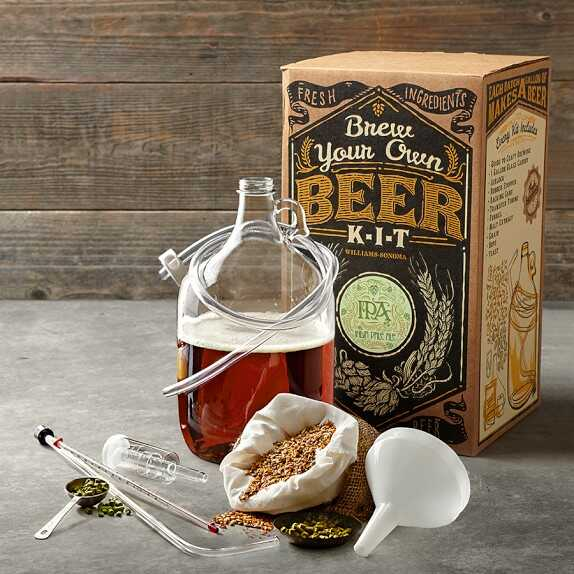 Brew your own beer kit with ingredients and materials