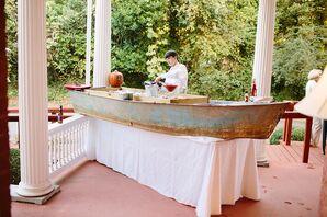Rustic Vintage Boat Bar