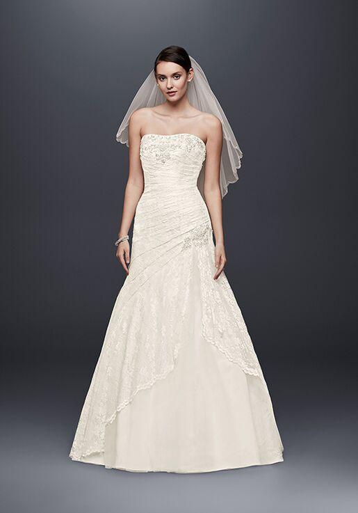 David's Bridal David's Bridal Collection Style YP3344 Mermaid Wedding Dress