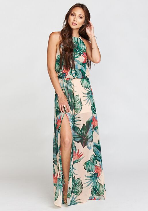 4fbce57685f Show Me Your Mumu Heather Halter Dress - Kauai Kisses Halter Bridesmaid  Dress