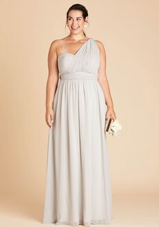 Birdy Grey Grace Convertible Dress Curve in Dove Gray Strapless Bridesmaid Dress