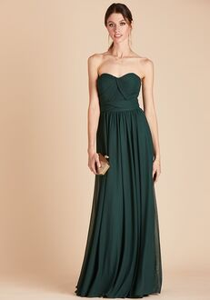 Birdy Grey Chicky Convertible Dress in Emerald Strapless Bridesmaid Dress