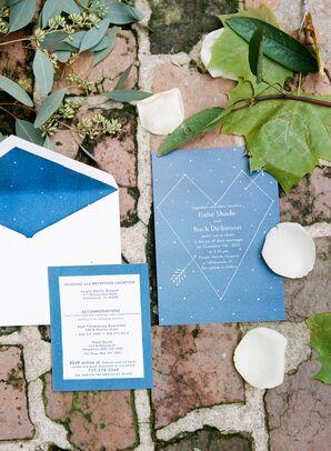 Rustic Blue Constellation Invitations