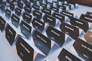 Modern Black-and-White Escort Cards