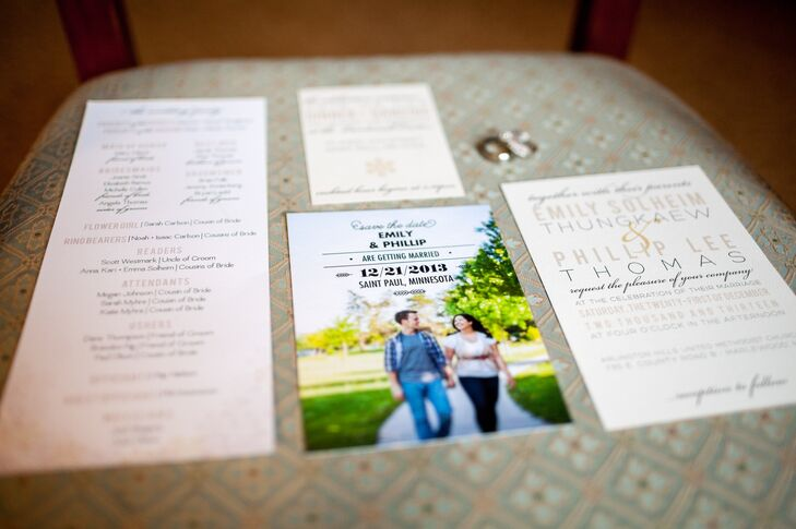 Emily and Phillip's Elegant Wedding Invitations