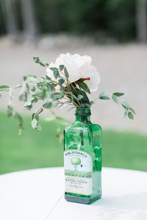 Vintage Bottle Flower Vase