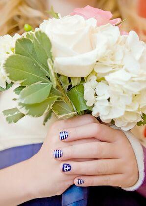 Nautical Navy Bridesmaid Manicure