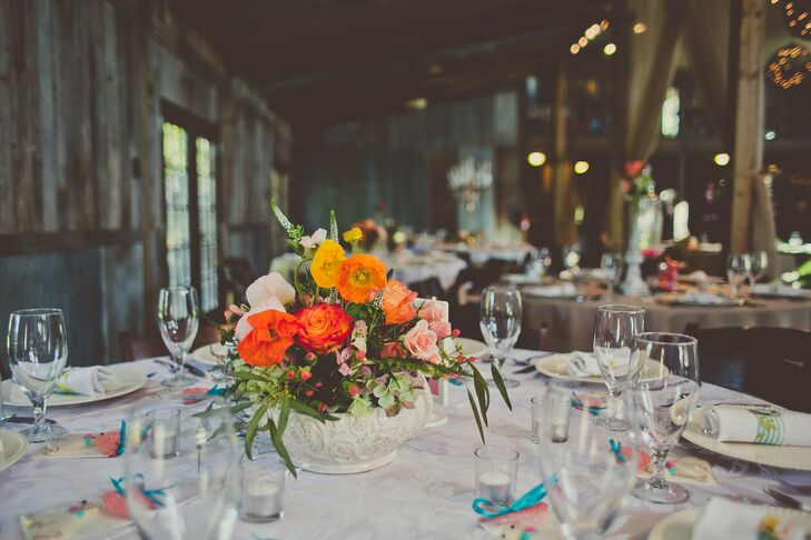 Orange Floral Centerpieces