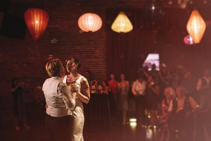 The couple shared their first dance to Ray LaMontagne's You Are The Best Thing.