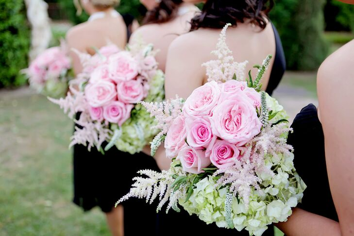 Pink and Green Bridesmaid Bouquets
