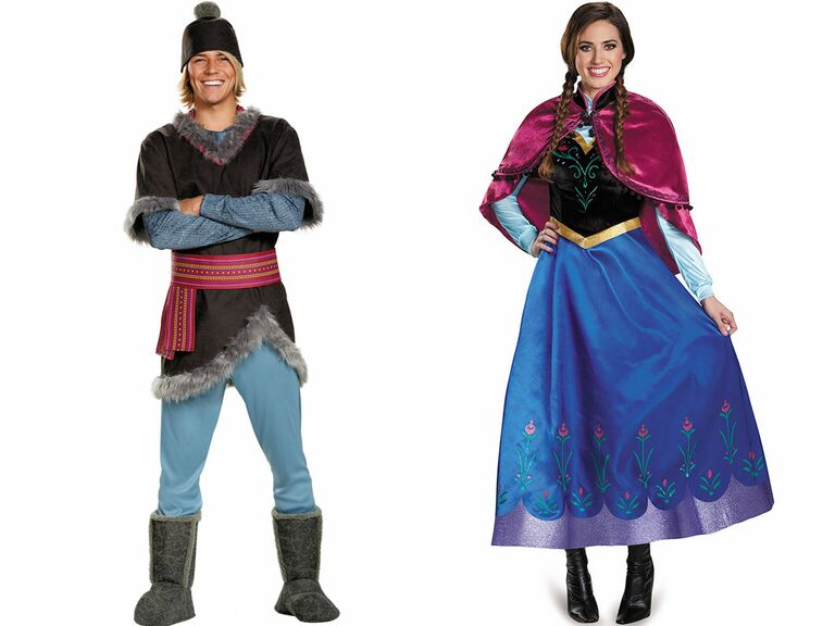 Disney couple costume Frozen  sc 1 st  The Knot & 13 Cute Disney Couple Costumes