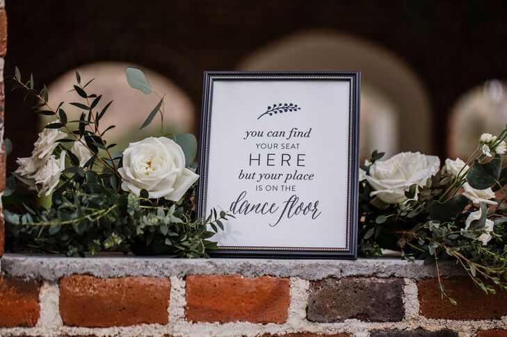 Katie and Blaine wanted their guests to enjoy the big day on the dance floor, as denoted by this cute signage.