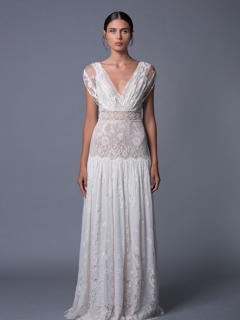 Lihi Hod 'Alona' sheer lace wedding dress for Fall 2017